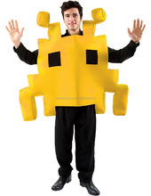 Adult Yellow Space Arcade Game Costume