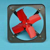 Industrial louvered outdoor wall mounted exhaust fan with high quality and cheap price wholesale