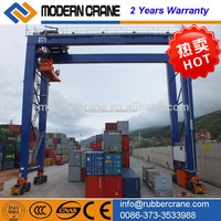 Container gantry crane price, container lifting cranes with rubber Tyre for sale