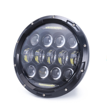 "DOT 7inch led headlight 7"" halo lamps headlight for jeep harley daymaker led"