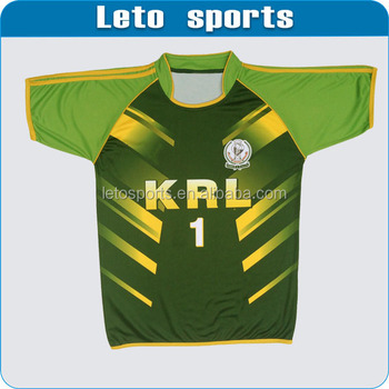 new style Rugby union jersey green