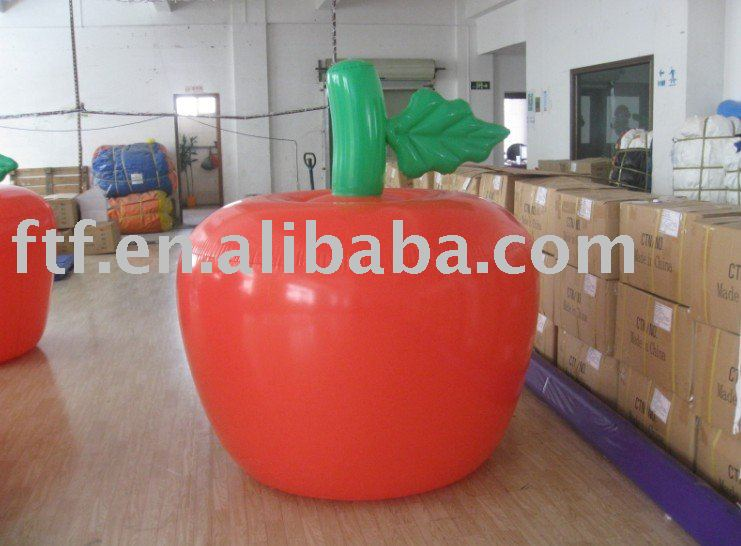 Realistic PVC inflatable apple fruit for promotion