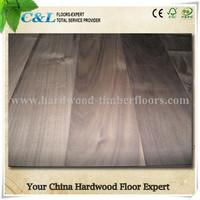 Black American walnut scratch resistant hardwood floors
