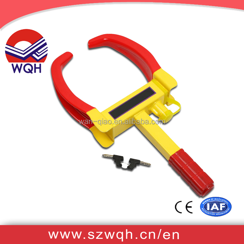 WQH Anti-theft truck wheel clamp / alarm car steering wheel lock for parking access control security