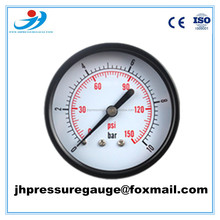 "pressure gauge manufacturer factory price 2.5"" axial connection black case common pressure gauge 1/4BSP"