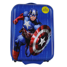 "JK-163110 Hot Sale 15"" ABS/PC Kid's Printing Luggage Square-shape 2 Wheels Carry-on suitcase"