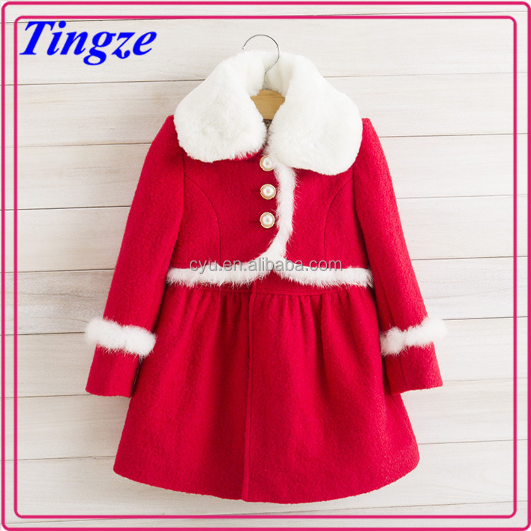 New design wholesale kids clothing christmas girls winter coat TR-CA21