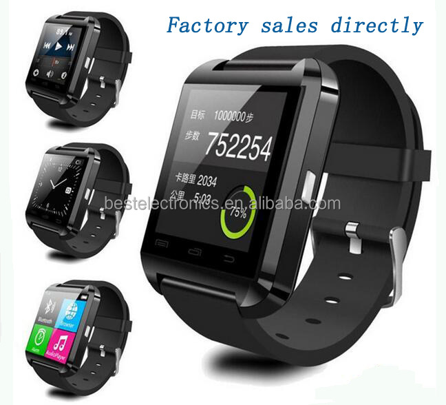 Factory direct sales U80 Bluetooth Smart Wrist Watch Phone Mate For Android & iOS <strong>Iphone</strong>