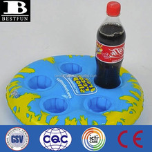 promotional custom inflatable 5 pack drinks holder drink holder tray cup holder tray drink serving tray