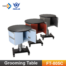 FT-805C Elevating Round Dog Pet Table Hydraulic Puppy Grooming Table