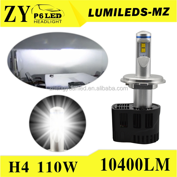 ZY P6 LED H4 55W / 12V LED Head Lights Conversion Kit