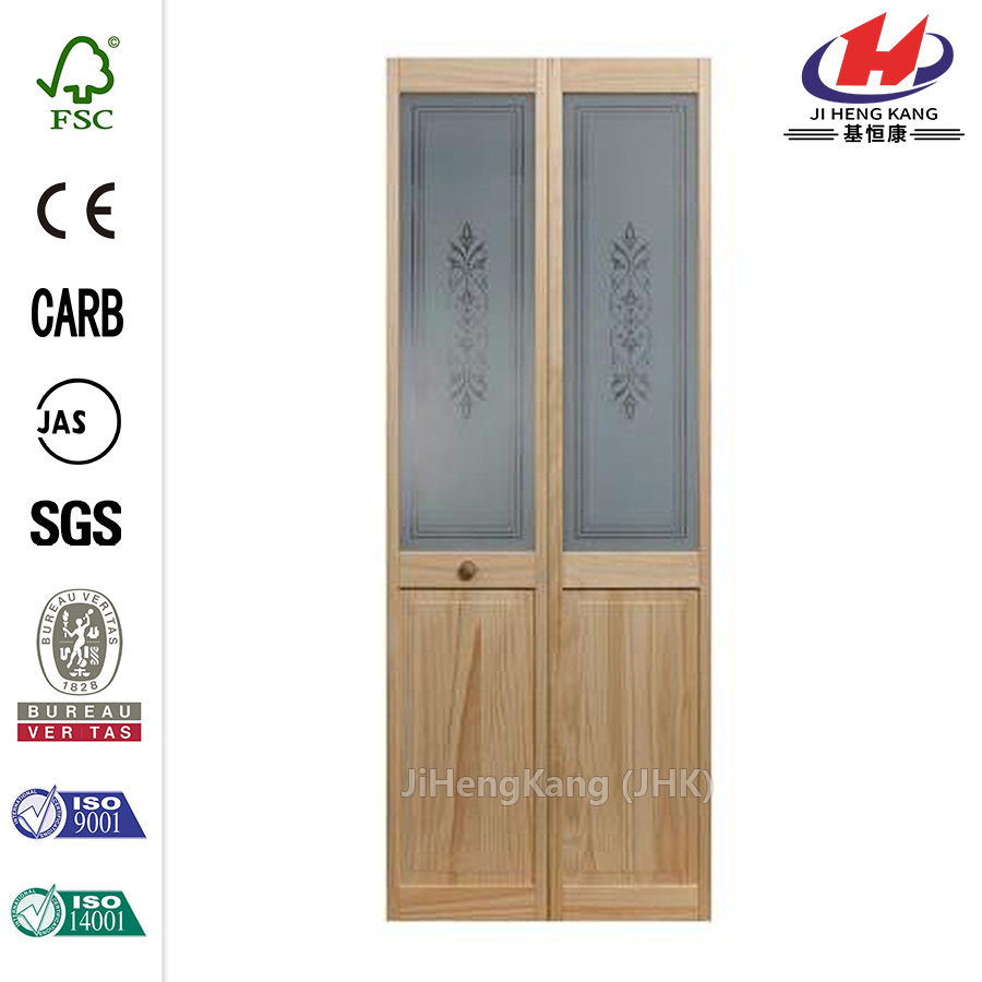 JHK- G15 Half Louvered Hospital Southern Yellow Pine Interior Swing Doors