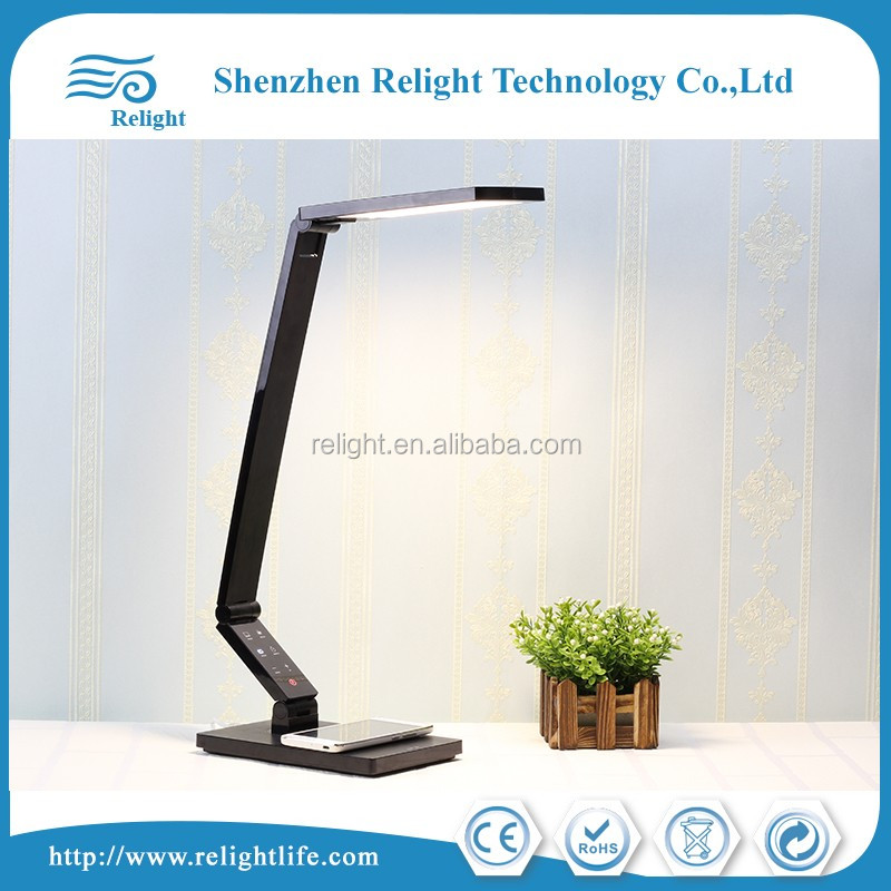 Bendable led desk lamp with wireless phone charger function, with QI certificated