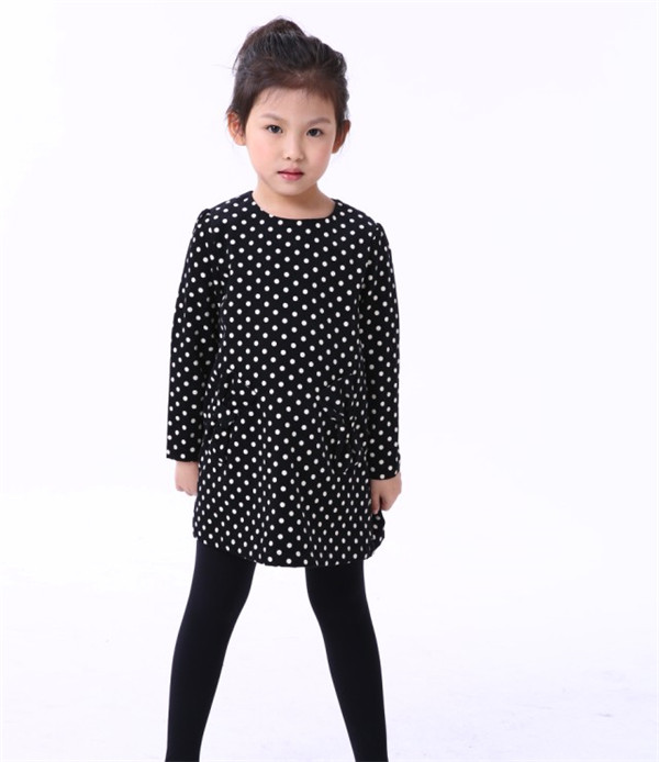 Branded Apparel Latest Corduroy Baby Kids Clothes Fancy Baby Girl Frock Desgin Fashion Dresses Polka Dot