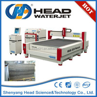 CNC stone cutting water jet travertine slab cutting machine