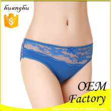 95%cotton 5%spandex hot blue little young ladies transparent fashion sexy underwear