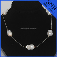 Sterling silver freshwater pearl necklace wholesale