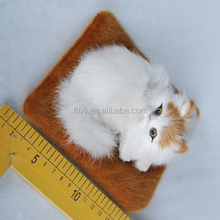 Lifelike lying display small animal cat recordable voice modules plush toys