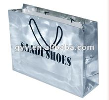 2012 fashion silvery printing paper bags