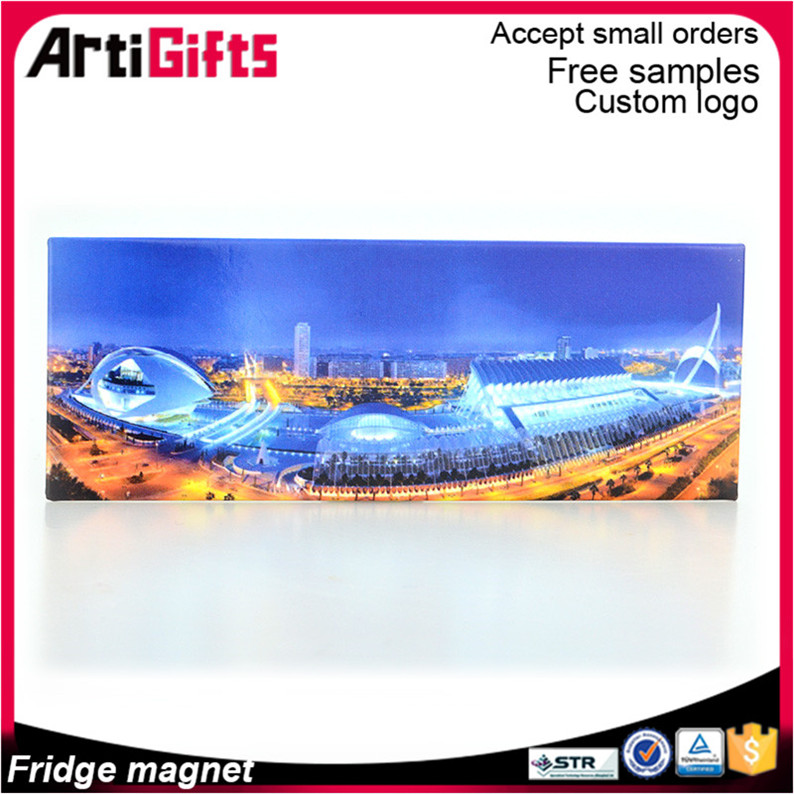 China factory cheap advertising coated paper fridge magnet