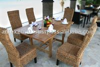 Teak Outdoor and Garden Furniture: Teak Combined with Wicker Furniture
