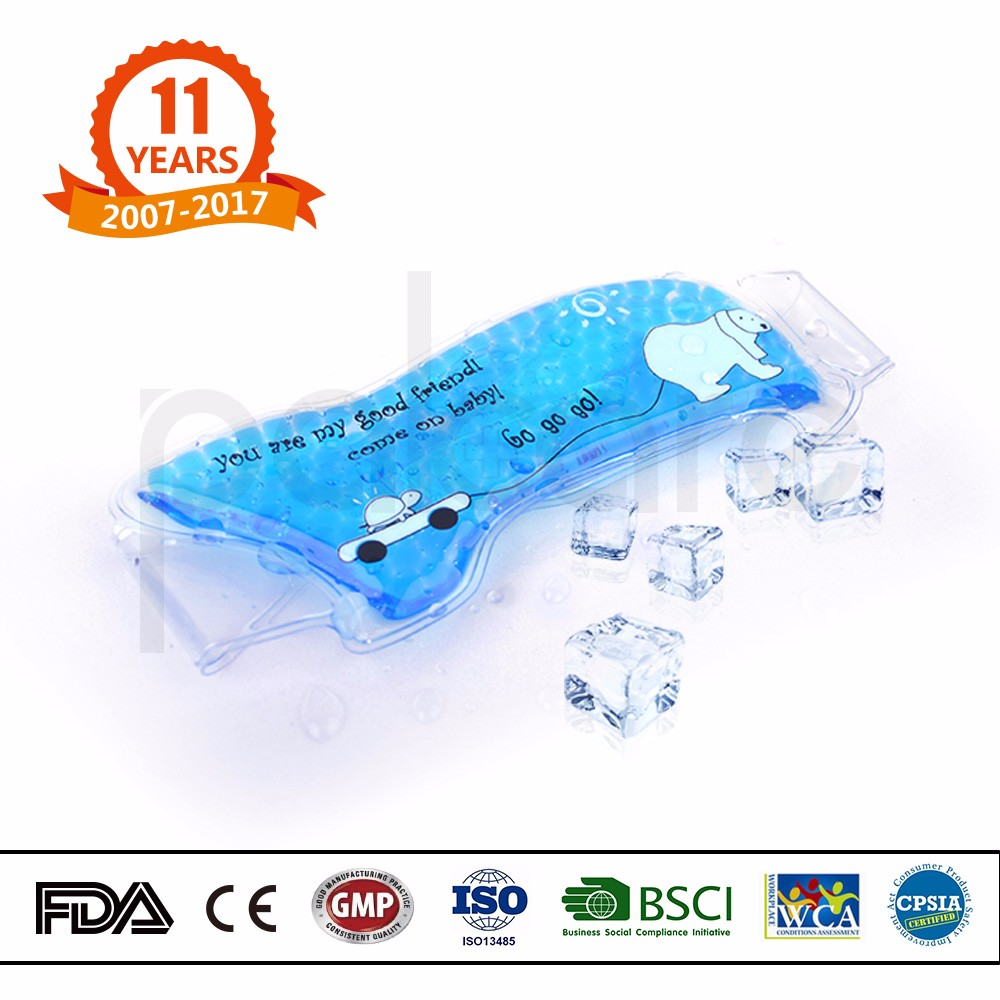 Fever reducing/ pain relief Food grade PVC Hot Cold gel bead pad