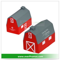 PU Material Promotional Barn Stress Reliever As Advertising Gifts