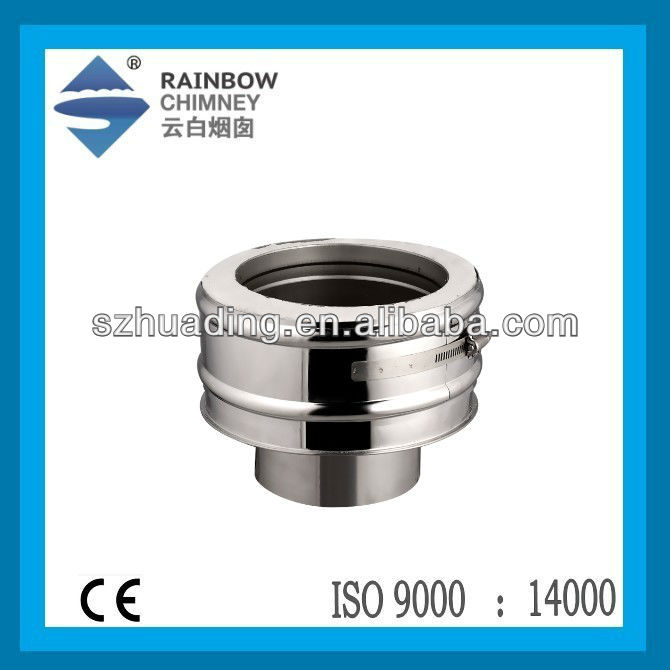 CE stainless steel chimney flue pipe adaptor chimnea pipe for stove and fireplace