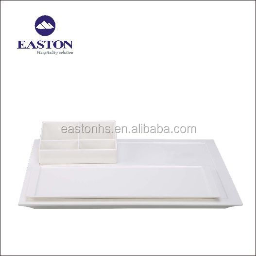 New design hotel melamine serving tray welcome trays