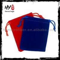 Brand new velvet mobile phone pouch bag, draw string bag, cloth jewelry pouch with high quality