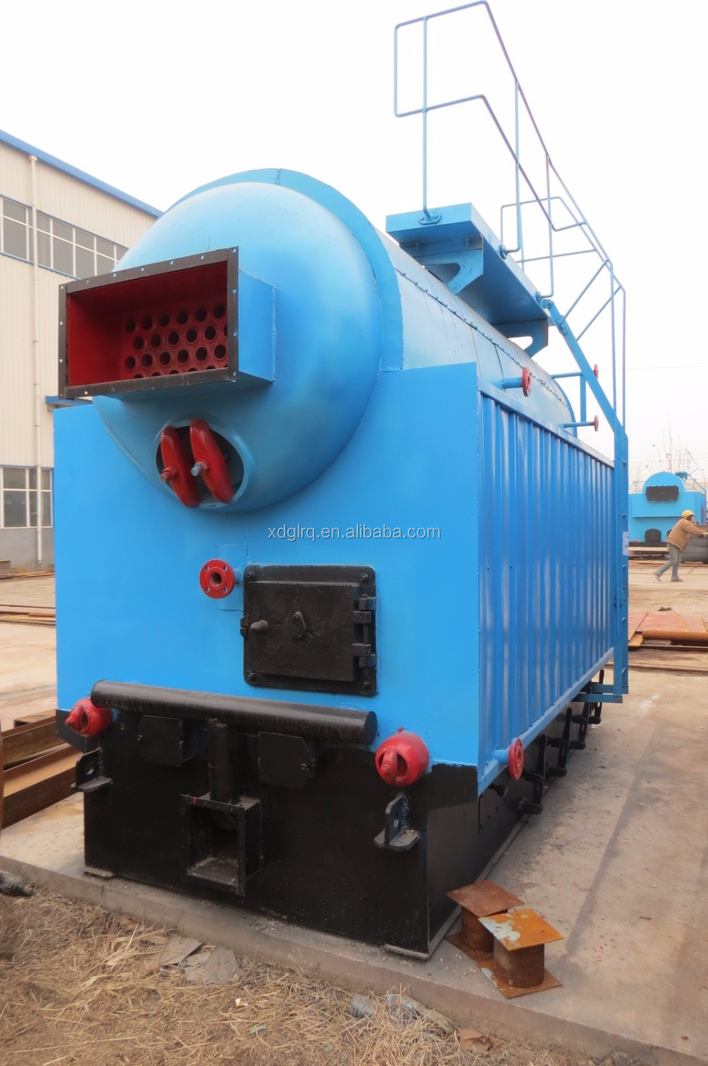 Industry Dzh Biomass Fuel Fire Water Stove,Single Drum Steam Boiler ...