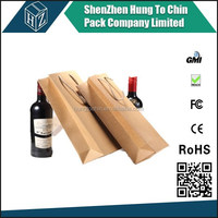 Decorative wholesale custom specialty fashion design kraft paper wine bottle bags