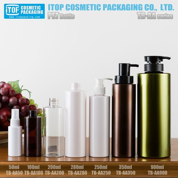 skin whitening body lotion bottle PET material fragrance perfume spray bottle 100ml plastic bottles with spout