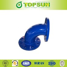 ductile iron pipe fittings ISO2531 DCI double flanged bend 90 degree
