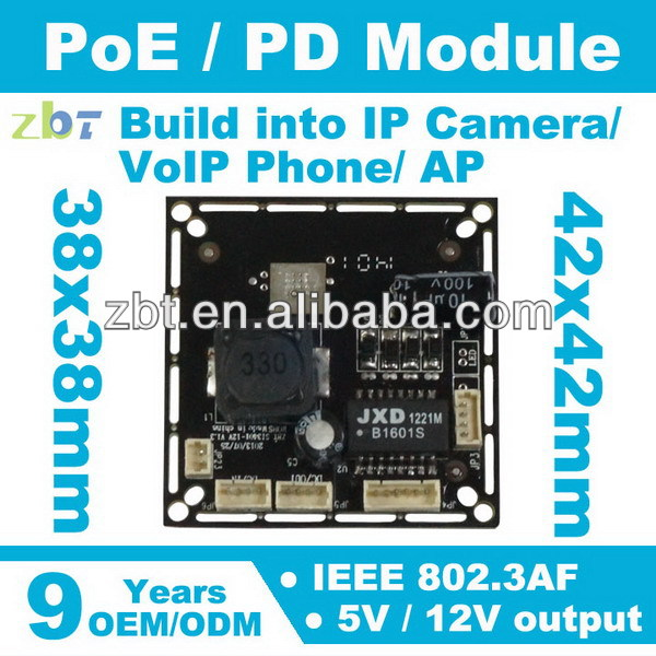 12V 5V 802.3AF IP camera Standard switch poe pd module
