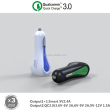 qc 3.0 2017 3 USB 30W Qualcomm quick charge 3.0 USB phone fast car charger 3.0 for Samsung,iphone