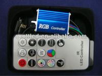Max 12A 288w DC5-24v Mini RGB controller, IR Remote LED Controller For RGB LED Strip ws2801 Light