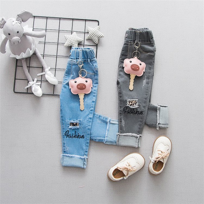Flower Girl Veil Denim Girl New Name Jeans Embroidery Design Kids Tight New Product Distributor Wanted