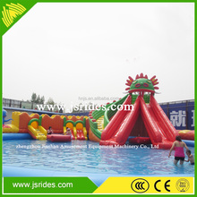 Amazing cheap new design giant inflatable water slide inflatable castle with slide for kids
