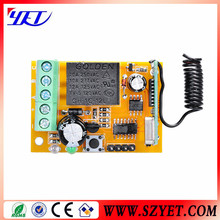 fixed code wireless rf receiver circuit board 433mhz