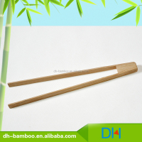 Manufacturer Wholesale Natural Bamboo Bread Tongs,Bun Tweezers For Sale