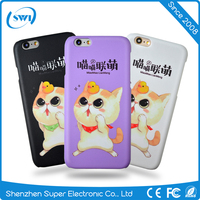 2016 NEW arrivals,high quality frosted PC 3D Film Sublimation printing hard phone Case back cover for iphone 6/6s