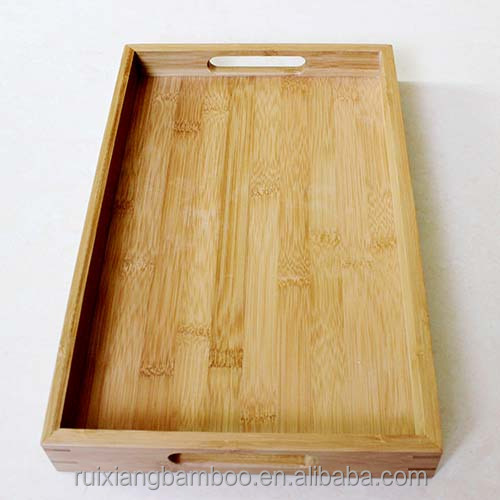 Bamboo Service Tray For Food and Bread