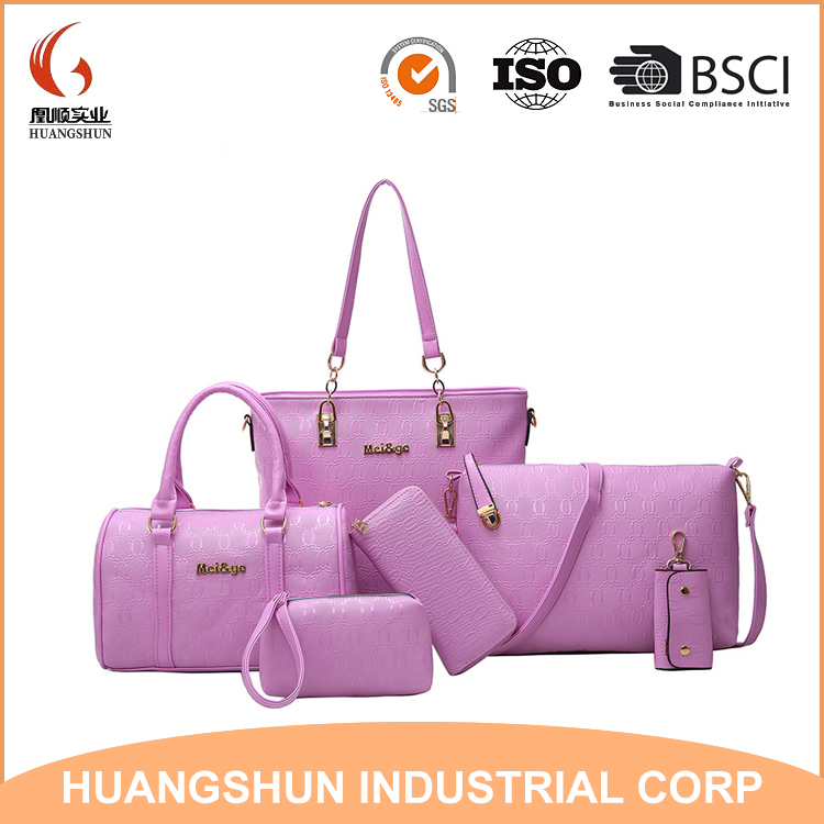 Fashion Handbag for Women Good DesignHandbag China Factory set bag 6 in 1 set