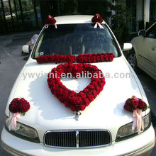 Popular style artificial rose wedding decorations for cars