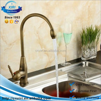 kitchen mixer taps Antique Brass Finish Basin Mixer Deck Mounte Single Handle Tap AF1029