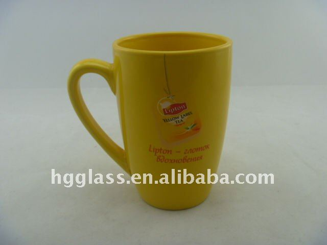 Wholesale lipton sublimation mug with unique logo in ceramic coffee mug with solid color