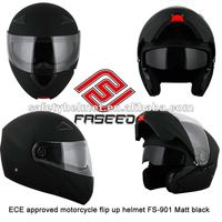 ECE approved new flip up helmet with intergrated sun visor FS-901 matt black