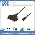 High quality USB 3.1 Type C to SATA 7+15 22Pin Adapter Cable for 2.5/3.5 inch HDD Hard Disk Drive