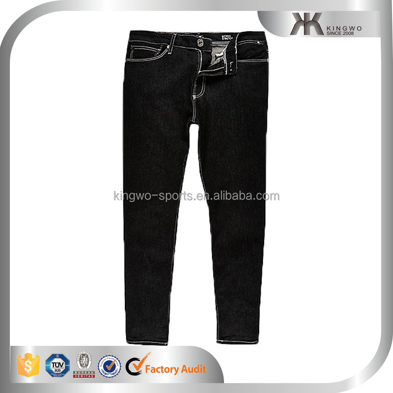 High Quality Black skinny stretch crop jeans hotsell mens popular denim pants